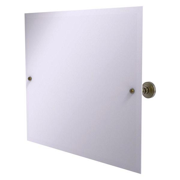 Allied Brass Waverly Place 28.5-in Antique Brass Rectangular Frameless Bathroom Mirror