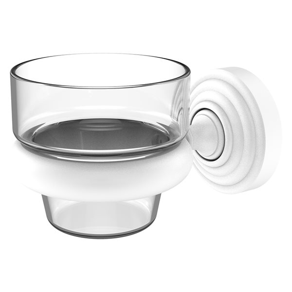 Allied Brass Waverly Place 1-Candle Matte White Glass Votive Candle Holder