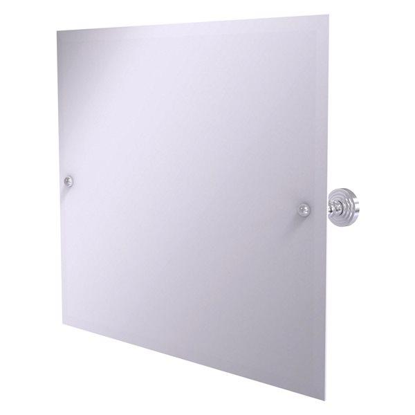 Allied Brass Waverly Place 28.5-in Satin Chrome Rectangular Frameless Bathroom Mirror