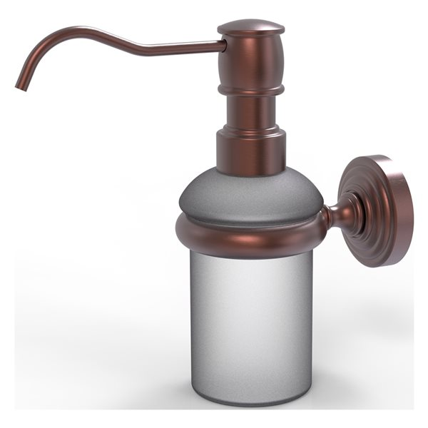 Allied Brass Waverly Place Antique Copper Wall Mount Soap and Lotion Dispenser