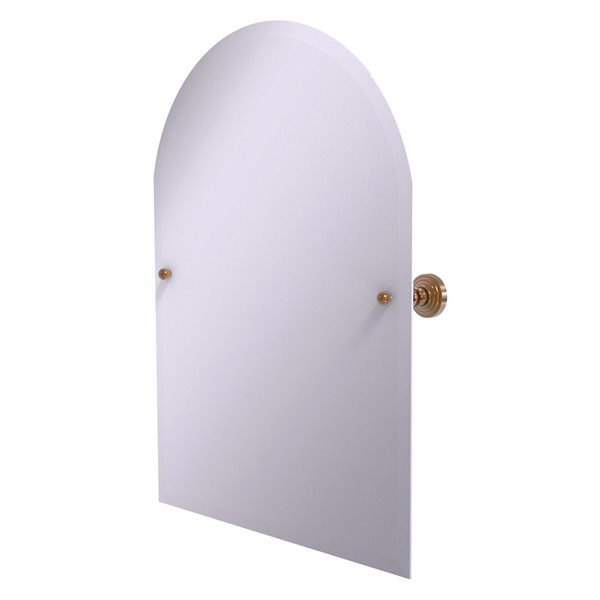 Allied Brass Waverly Place 23.5-in Brushed Bronze Arched Frameless Bathroom Mirror
