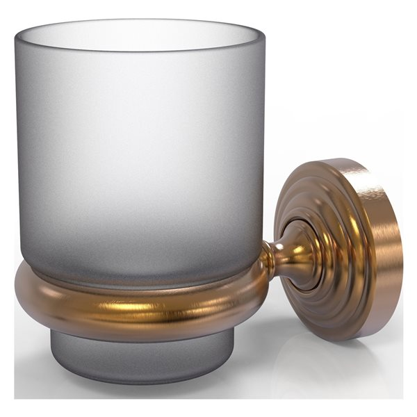 Allied Brass Waverly Place Brushed Bronze Brass Tumbler and Toothbrush Holder