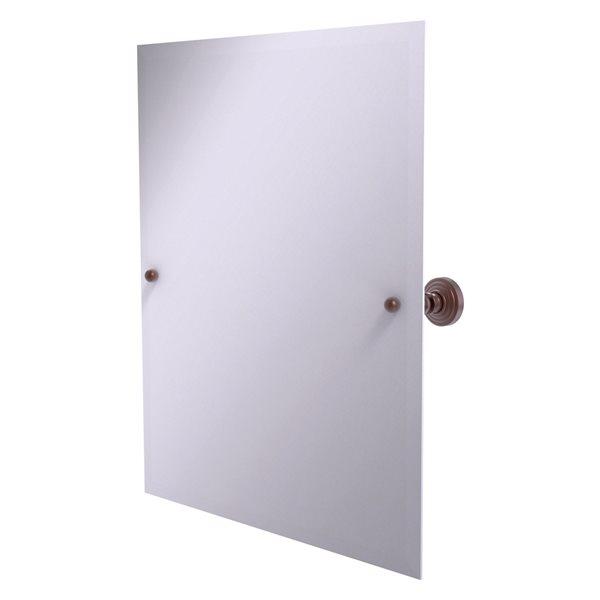 Allied Brass Waverly Place 23.5-in Antique Copper Rectangular Frameless Bathroom Mirror