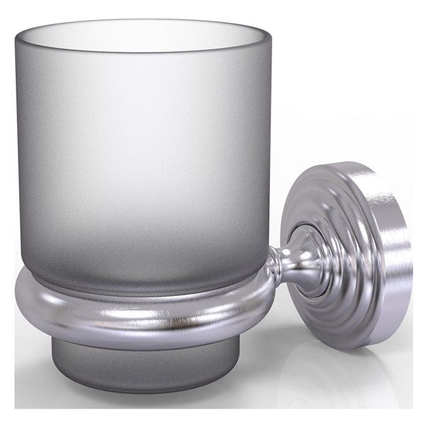 Allied Brass Waverly Place Satin Chrome Brass Tumbler and Toothbrush Holder