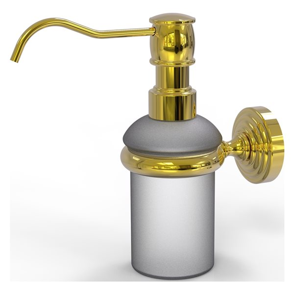 Allied Brass Waverly Place Polished Brass Wall Mount Soap and Lotion Dispenser
