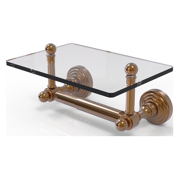 Allied Brass Waverly Place Brushed Bronze Wall Mount Double Post Toilet Paper Holder