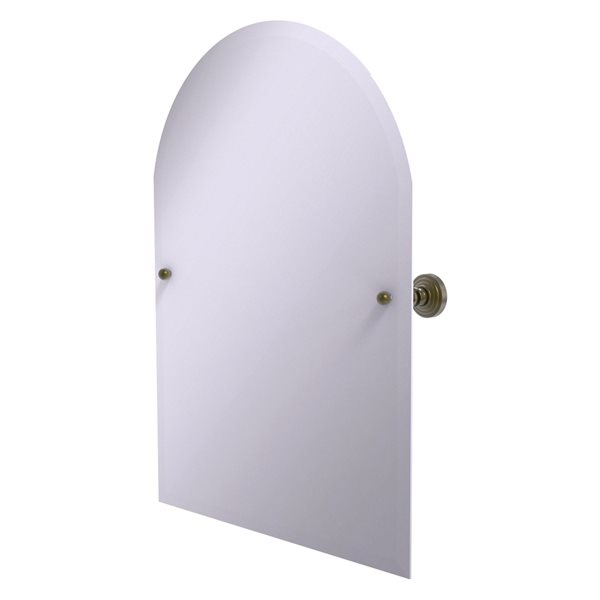 Allied Brass Waverly Place 23.5-in Antique Brass Arched Frameless Bathroom Mirror