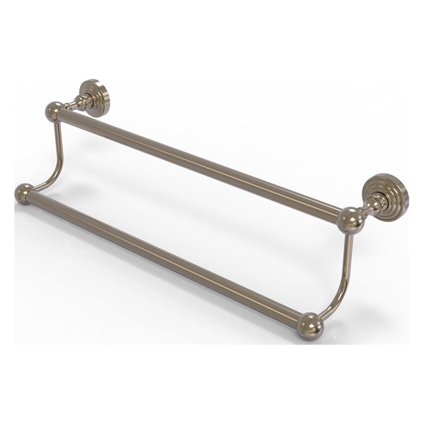 Allied Brass Waverly Place 36-in Antique Pewter Wall Mount Double Towel Bar