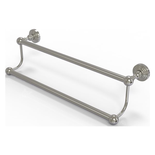 Allied Brass Waverly Place 36-in Satin Nickel Wall Mount Double Towel Bar