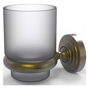 Allied Brass Waverly Place Antique Brass Tumbler and Toothbrush Holder