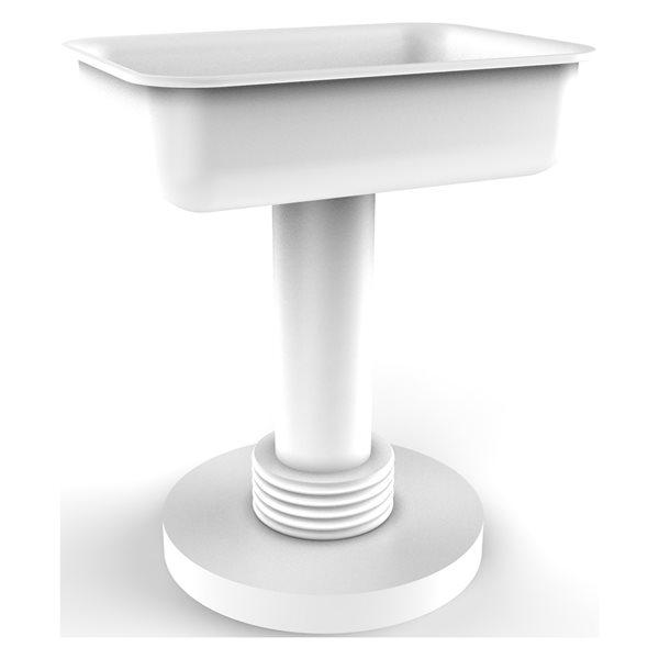 Allied Brass Matte White Brass Countertop Soap Dish