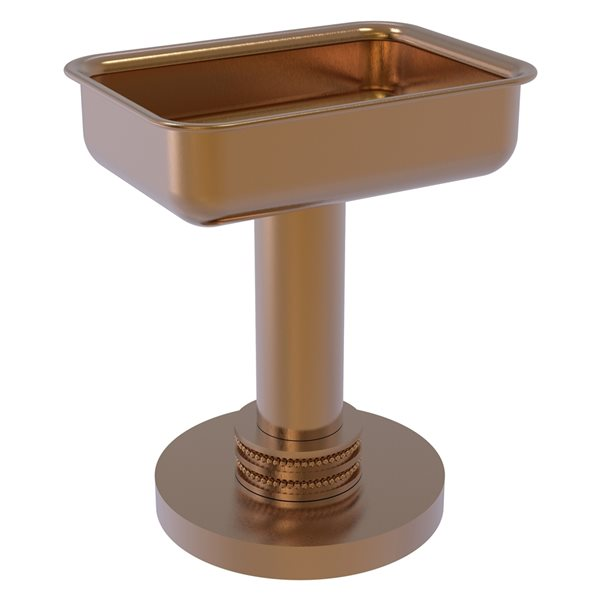 Allied Brass Countertop Brushed Bronze Soap Dish