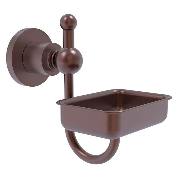 Allied Brass Astor Place Wall Mount Antique Copper Brass Soap Dish