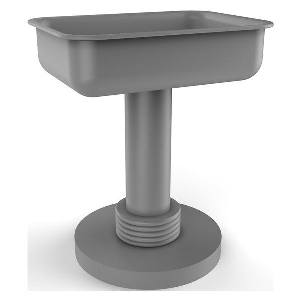 Allied Brass Matte Grey Brass Countertop Soap Dish