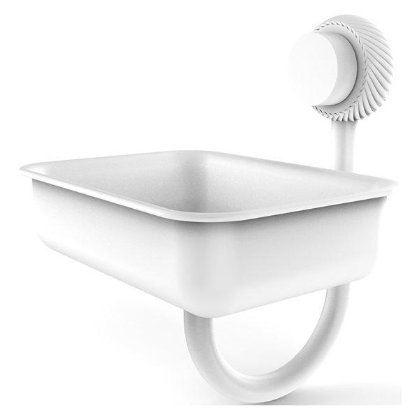 Allied Brass Venus Matte White Brass Soap Dish