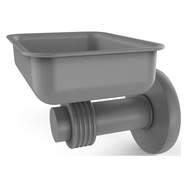 Allied Brass Mercury Matte Grey Brass Wall Mount Soap Dish