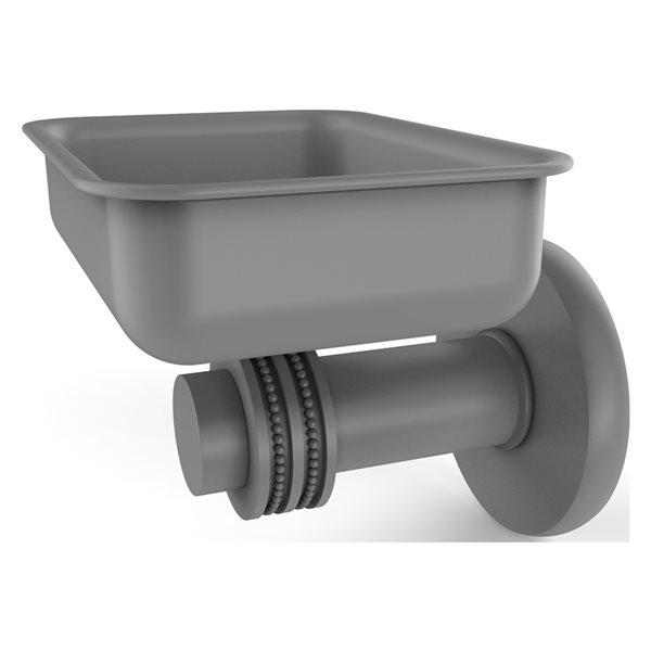 Allied Brass Mercury Matte Grey Brass Soap Dish