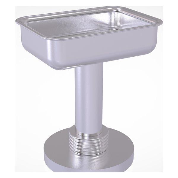 Allied Brass Satin Chrome Brass Countertop Soap Dish