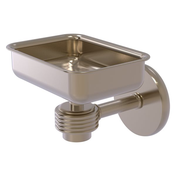 Allied Brass Satellite Orbit One Antique Pewter Brass Soap Dish for Wall Mount Installation