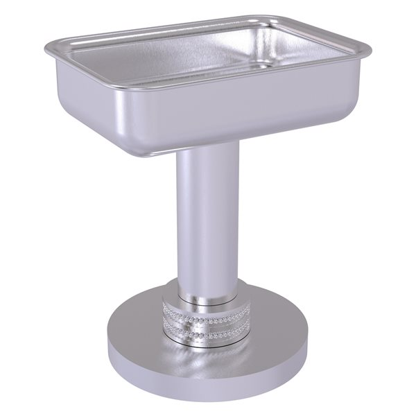 Allied Brass Countertop Satin Chrome Soap Dish