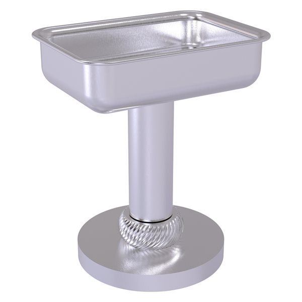 Allied Brass Satin Chrome Brass Soap Dish for Countertop