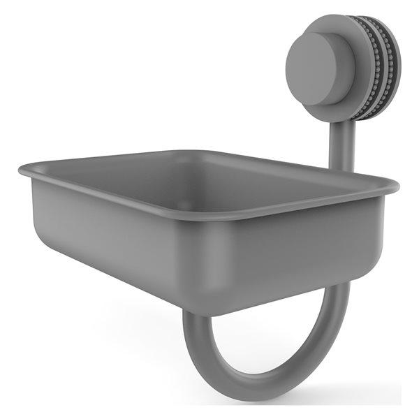 Allied Brass Venus Matte Grey Brass Soap Dish for Wall Mount Installation