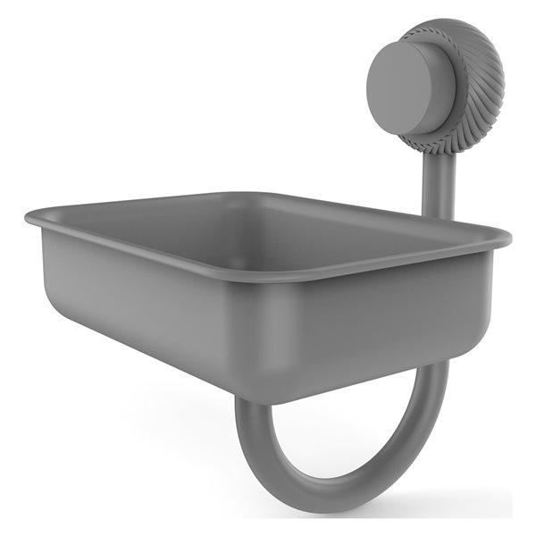 Allied Brass Venus Matte Grey Brass Soap Dish