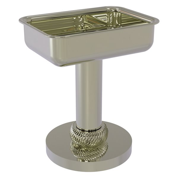 Allied Brass Polished Nickel Brass Soap Dish for Countertop