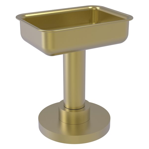 Allied Brass Countertop Satin Brass Soap Dish