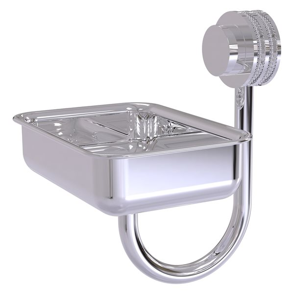 Allied Brass Venus Polished Chrome Brass Soap Dish for Wall Mount Installation
