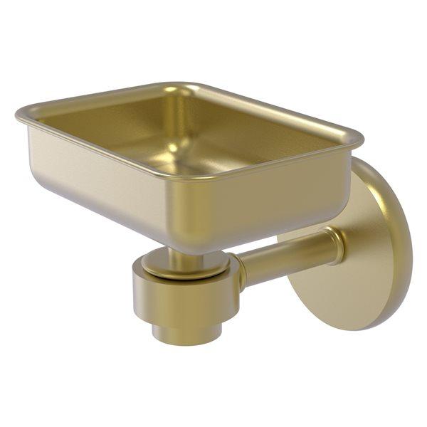 Allied Brass Satellite Orbit One Wall Mount Satin Brass Soap Dish