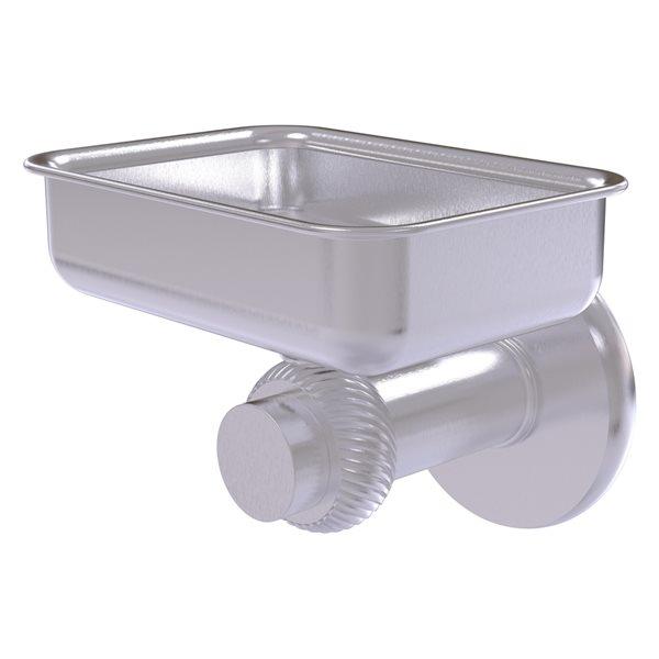 Allied Brass Mercury Satin Chrome Brass Soap Dish - Wall Mount Installation