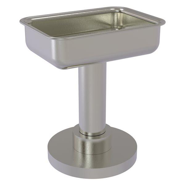 Allied Brass Countertop Satin Nickel Brass Soap Dish