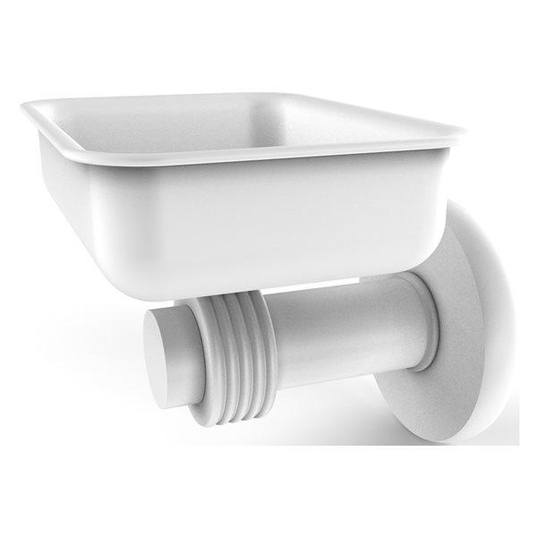 Allied Brass Mercury Matte White Brass Wall Mount Soap Dish