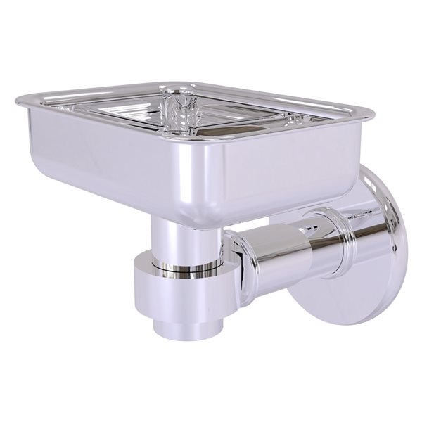 Allied Brass Continental Wall Mount Polished Chrome Brass Soap Dish