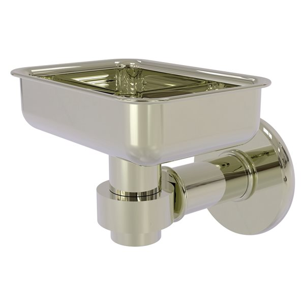 Allied Brass Continental Wall Mount Polished Nickel Brass Soap Dish