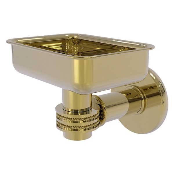Allied Brass Continental Wall Mount Unlacquered Brass Soap Dish