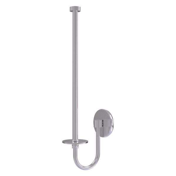 Allied Brass Metal Wall-Mounted Satin Chrome Paper Towel Holder