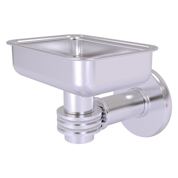 Allied Brass Continental Wall Mount Satin Chrome Soap Dish