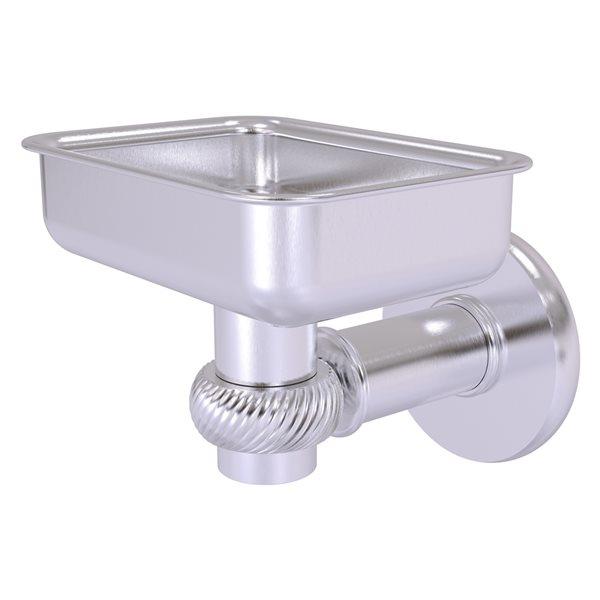 Allied Brass Continental Satin Chrome Brass Wall Mount Soap Dish