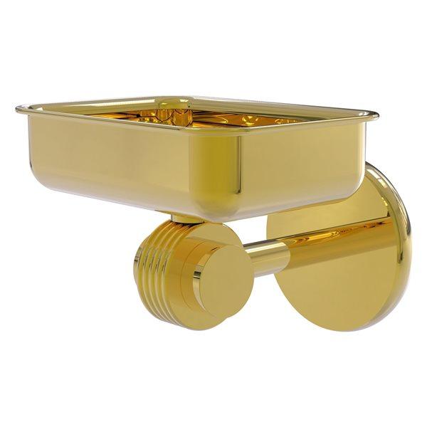Allied Brass Satellite Orbit Two Polished Brass Wall Mount Soap Dish