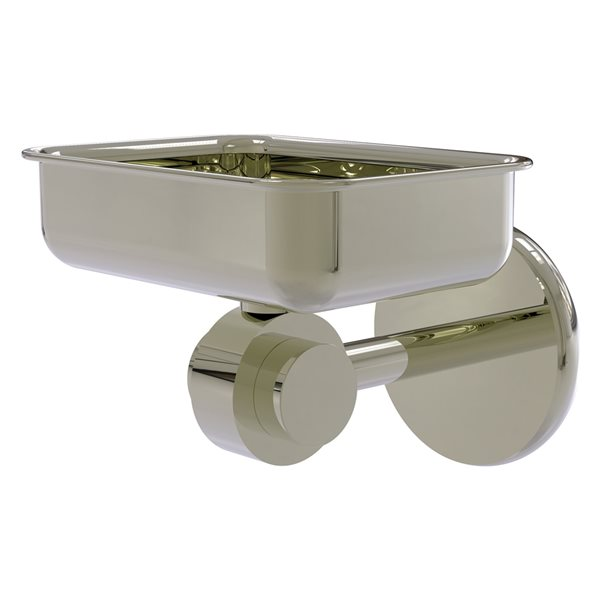 Allied Brass Satellite Orbit Two Wall Mount Polished Nickel Brass Soap Dish