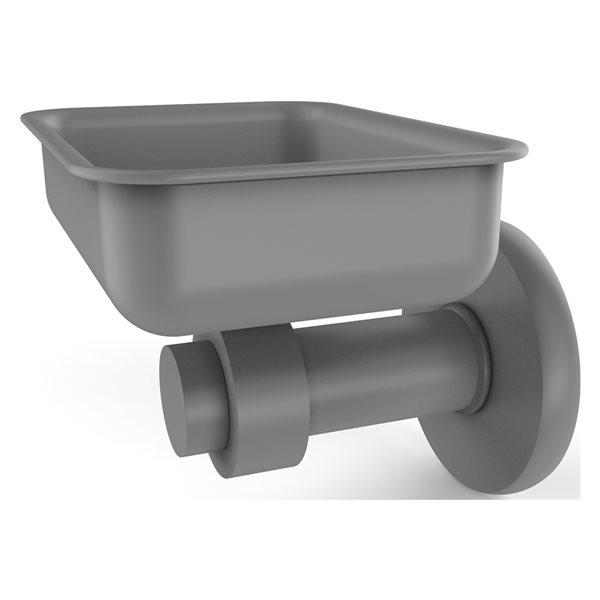 Allied Brass Mercury Wall Mount Matte Grey Brass Soap Dish