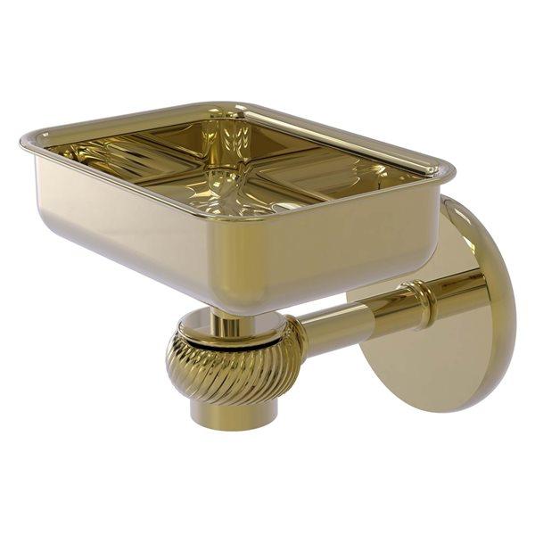 Allied Brass Satellite Orbit One Unlacquered Brass Soap Dish