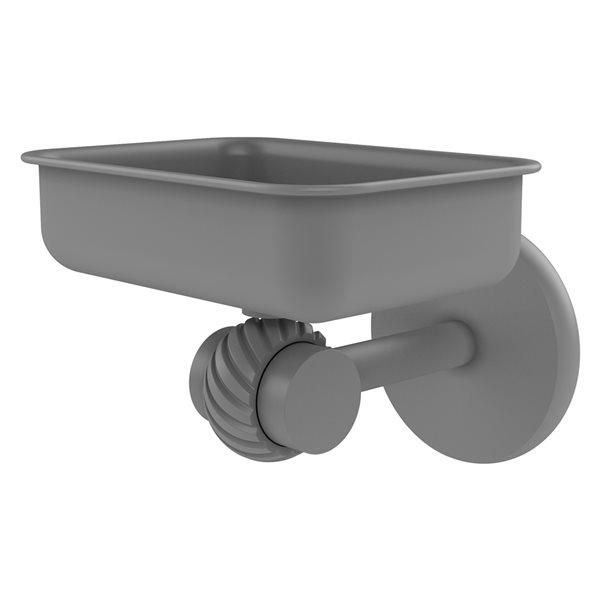 Allied Brass Satellite Orbit Two Matte Grey Brass Soap Dish