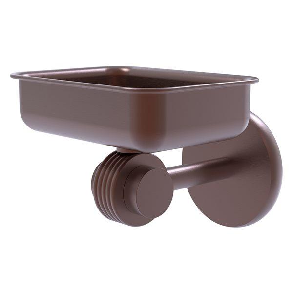Allied Brass Satellite Orbit Two Antique Copper Brass Wall Mount Soap Dish