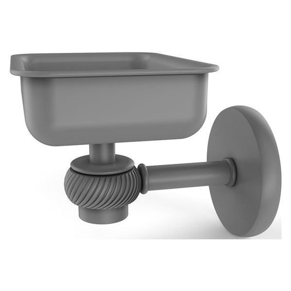 Allied Brass Satellite Orbit One Matte Grey Brass Soap Dish