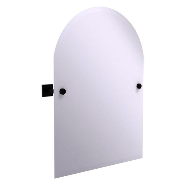 Allied Brass Montero 21-in Matte Black Arch Frameless Bathroom Mirror