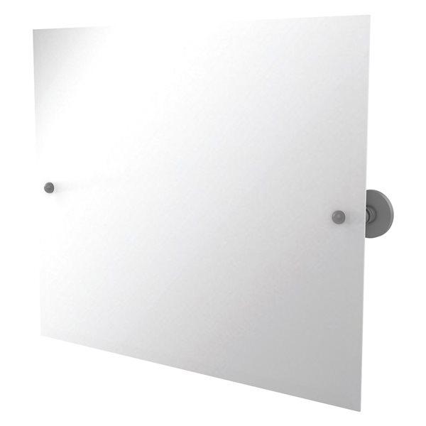 Allied Brass Prestige Skyline 21-in Matte Grey Rectangular Frameless Bathroom Mirror