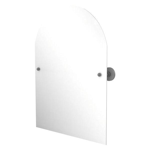 Allied Brass Prestige Skyline 29-in Matte Grey Arch Frameless Bathroom Mirror